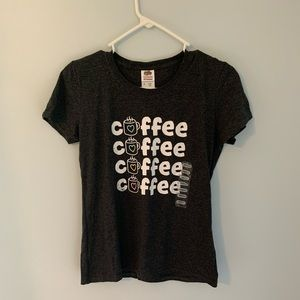 NEW!! Charcoal gray color Coffee T-shirt small